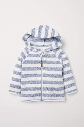 H&M Knit Fleece Hooded Jacket - White