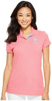 U.S. Polo Assn. Leaf Bud Polo Shirt Women's Clothing