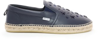 Jimmy Choo VLAD Navy Leather Espadrilles with Enamel Stars