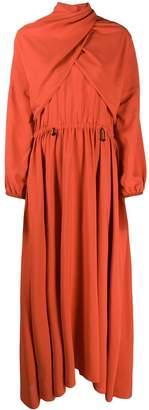 Kenzo pleated maxi dress