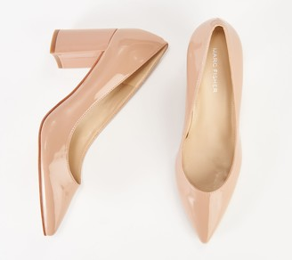 Marc Fisher Pointy Toe Block Heel Pumps - Claire