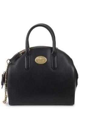 Roberto Cavalli Textured Leather Satchel