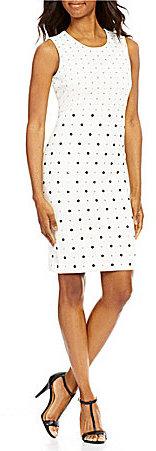 Calvin KleinCalvin Klein All Over Studs Sheath Dress
