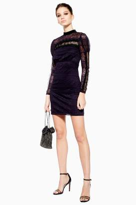 Topshop Scallop Lace Trim Dress