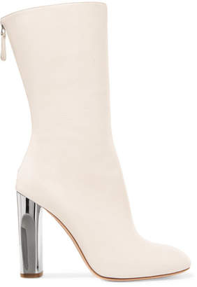 Alexander McQueen Leather Boots - Ivory