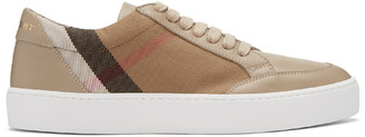 Burberry Taupe Salmond Sneakers $375 thestylecure.com