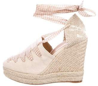 Castaner Woven Wedge Pumps