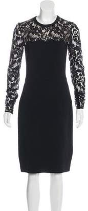Stella McCartney Lace-Trimmed Bodycon Dress Black Lace-Trimmed Bodycon Dress