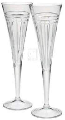 Reed & Barton Tempo Collection Crystal Toasting Flutes (Set of 2)
