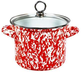 Calypso Basics, 1.5 Qt. Marble Effect Stock Pot, Red Marble