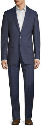 Calvin Klein Slim Fit Wool Suit With Flat Front Pant