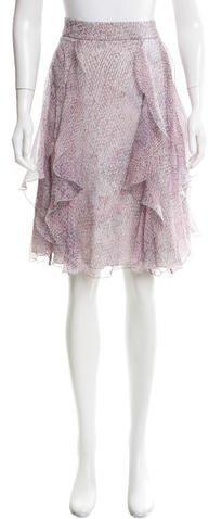Armani Collezioni Ruffled Knee-Length Skirt