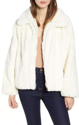 Hunter Tiger Mist Faux Fur Jacket