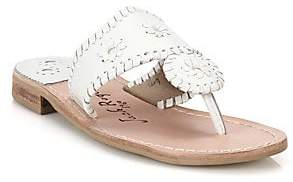 Jack Rogers Women's Palm Beach Leather Thong Sandals
