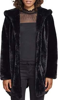 Urban Classic Women's Ladies Hooded Teddy Coat (Black 00007)