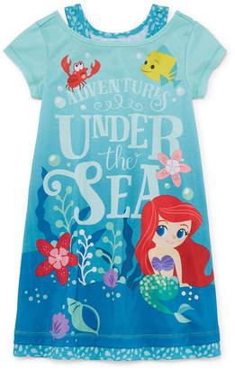 Disney Short Sleeve The Little Mermaid Nightshirt-Toddler Girls