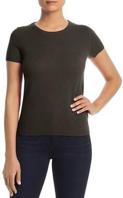 Bloomingdale's C by Short Sleeve Cashmere Sweater - 100% Exclusive