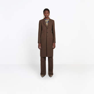Balenciaga Wool coat with single breasted coat