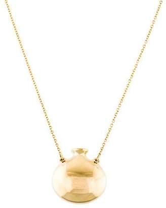 Tiffany & Co. 18K Round Bottle Pendant Necklace