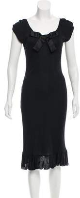 Blumarine Sleeveless Lace-Paneled Dress