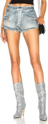 Unravel Lace Front Denim Shorts