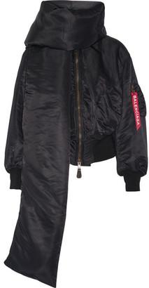 Balenciaga - Swing Shell Bomber Jacket - Black $2,150 thestylecure.com