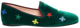 Gucci Velvet Smoking Slipper with Bees
