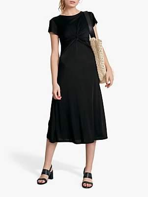 Hush Twist Front Dress, Black