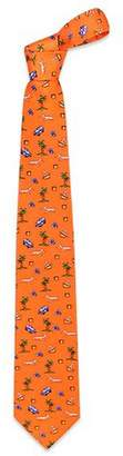 Renato Balestra Going on Vacation Apricot Printed Silk Tie