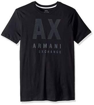Armani Exchange A|X Men's Short Sleeve Crew Neck Large Graphic Logo T-Shirt