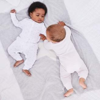 The White Company Heart Print & Stripe Sleepsuit - Set of 2