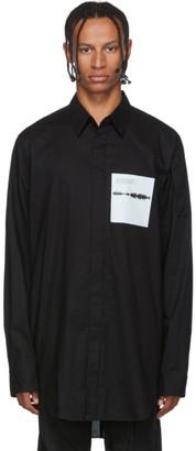 Julius Black Cotton Typewriter Shirt
