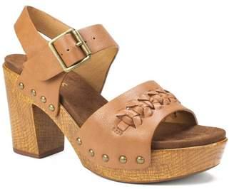 White Mountain Altheda Block Heel Platform Sandal