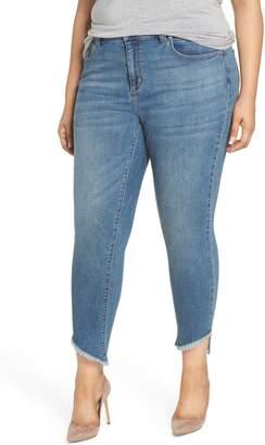 Seven7 Coil Step Hem Skinny Jeans