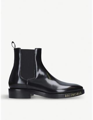 afaa7b6f7222 Balenciaga Evening leather Chelsea boots
