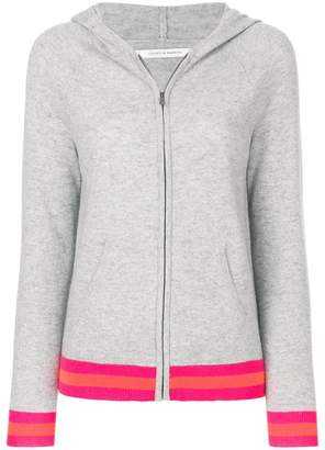 Parker Chinti & stripe trim zipped hoodie