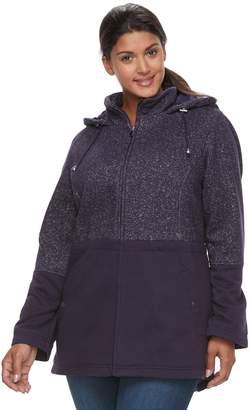 Details Plus Size Fleece Anorak Jacket