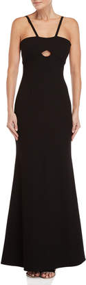 Jill Stuart Black Keyhole Sleeveless Gown