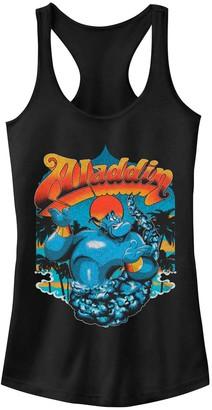 Licensed Character Juniors' Disney's Aladdin Genie Shrug Vintage Style Tank Top