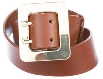 Frame Leather Buckle Belt