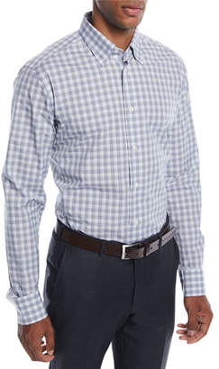 Brioni Men's Check Cotton Sport Shirt