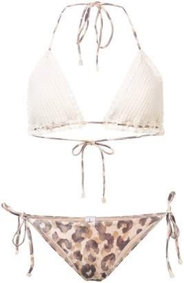 Zimmermann Leopard Print Bikini