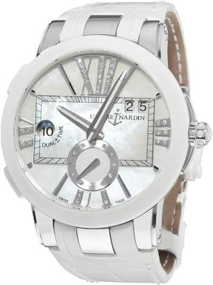 Ulysse Nardin Women's 24310/391 Executive Dual Time Diamond Mother-Of-Pearl Dial Watch