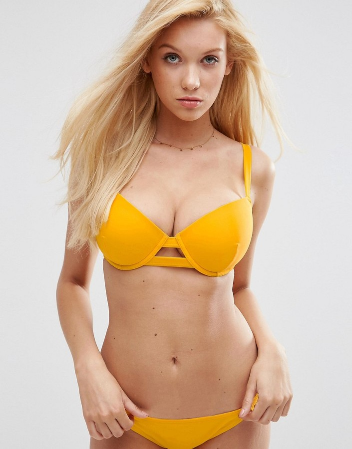 ASOS FULLER BUST Exclusive Cut Out Plunge Bikini Top DD-G