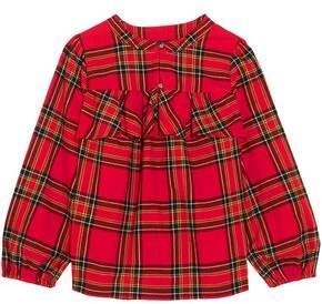 J.Crew Gelder Ruffled Checked Cotton-flannel Shirt