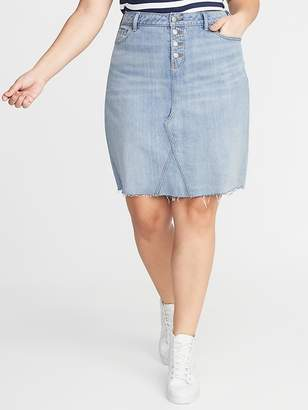 9367b240832 Old Navy High-Rise Secret-Slim Pockets Plus-Size A-Line Denim