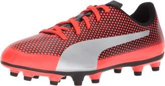 Puma Unisex-Kids Spirit FG Soccer-Shoes, Fizzy Yellow-Red Blast Black