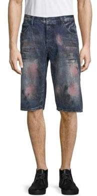 PRPS Stained Denim Hiking Shorts