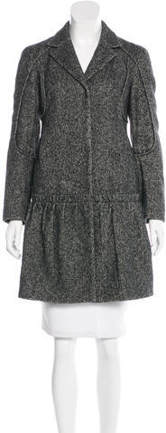 prada Prada Knee-Length Wool Coat