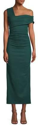 Diane von Furstenberg Bently One-Shoulder Midi Cocktail Dress